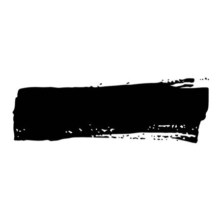 Vector grunge brush stroke ink. Black and white. Abstract background element. Design element