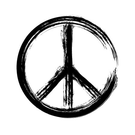 Illustration pour peace symbol icon vector. War and peace friendship pacifism. peace illustration - image libre de droit