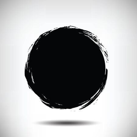 Illustration pour Black vector grunge circle background. Black textured circle. The uneven edges of the circle. Round background - image libre de droit