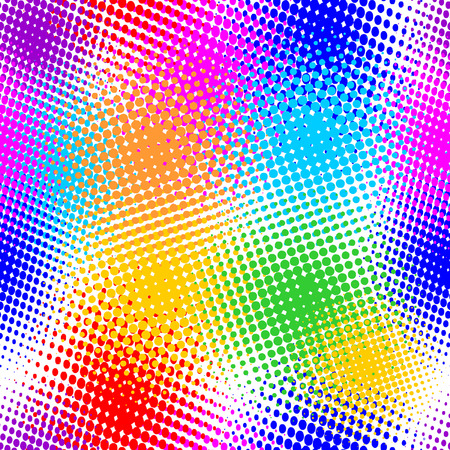 seamless pattern, vector halftone effect, illusion of the gradient