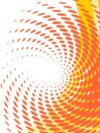 Illustration for vector halftone effect, illusion of the gradient, place for text - Royalty Free Image