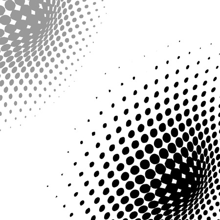 Illustration pour abstract  background, vector halftone effect, illusion of the gradient, place for text - image libre de droit