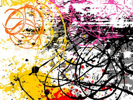 Illustration pour vector background, hand drawn grunge design elements - image libre de droit