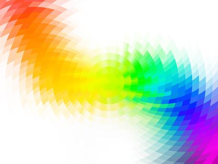 Illustration pour vector composition with grid, tiles, gradient effect - image libre de droit