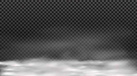 Illustration pour White vector cloudiness ,fog or smoke on dark checkered background. - image libre de droit