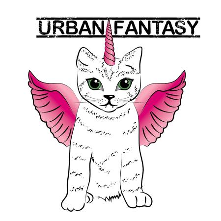 Foto per Urban fantasy - cute unicorn cats - Immagine Royalty Free