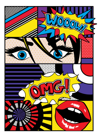 Photo pour Pop art comic style - image libre de droit