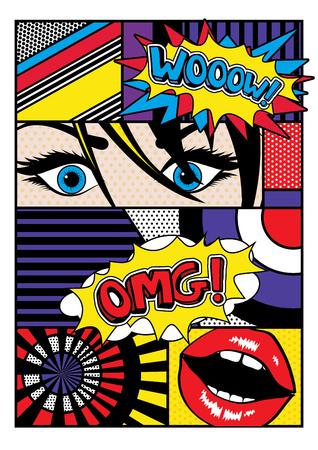 Pop art comic style