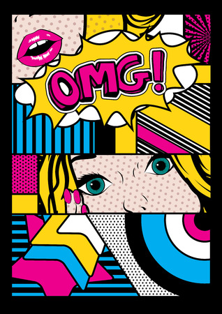 Illustration for Pop art comic style - Royalty Free Image