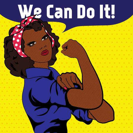 Illustration pour We Can Do It, an iconic woman's fist symbol - image libre de droit