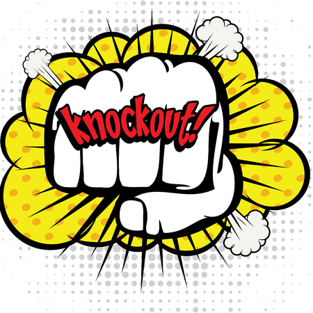Pop Art comics icon Knockout!