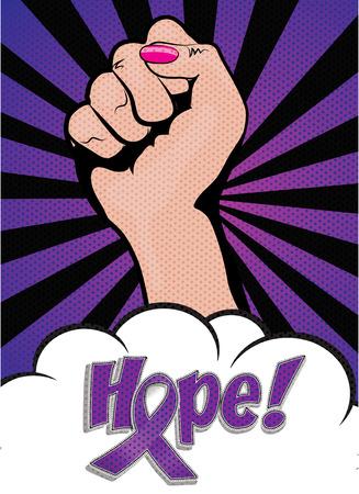 Purple Ribbon Awareness Day banner