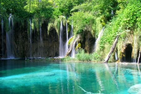 Waterfalls in Plitvice lake national park, Croatia