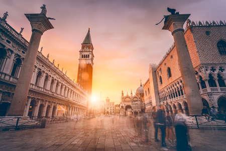 Photo pour San Marco square in sunset light. Venice, Italy - image libre de droit
