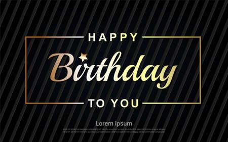 Illustration pour Happy Birthday gold letter - image libre de droit