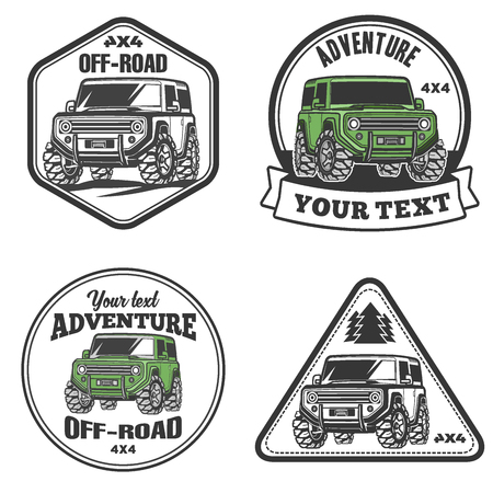 Vector of off-road suv car emblems, - ID:62114670 - Royalty Free
