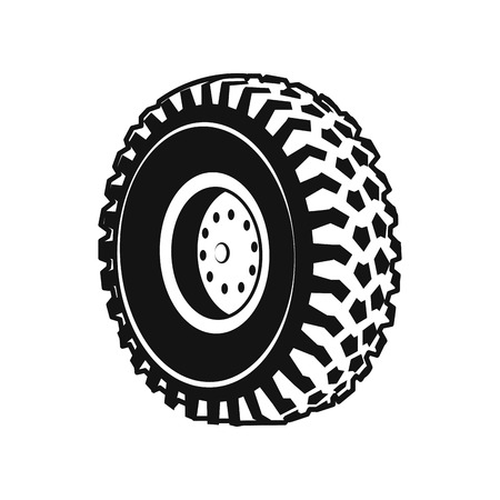 Illustration pour Heavy Duty Truck wheel Rim, Front and Rear - image libre de droit