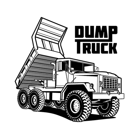 Ilustración de tipper dump truck illustration isolated on white - Imagen libre de derechos