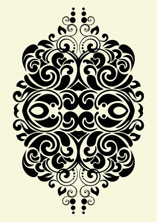 Illustration for design ornamental element in vintage style vectorized  - Royalty Free Image