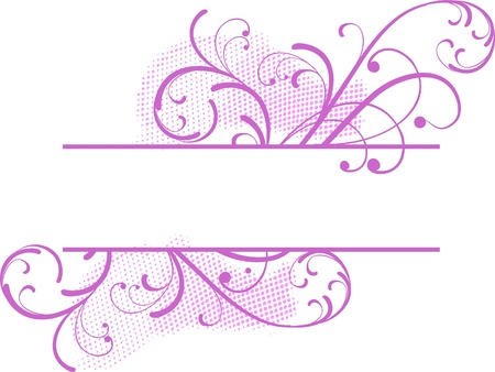 pink floral banner for text
