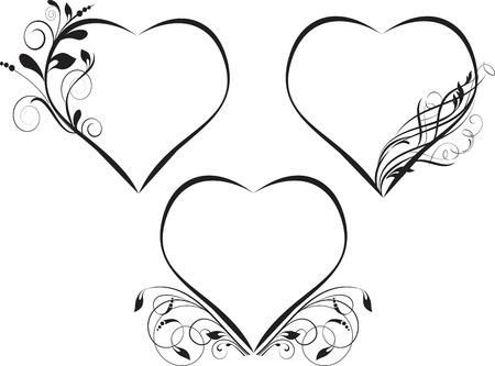 Illustration for Decorative frames - element for design in vintage style - Royalty Free Image
