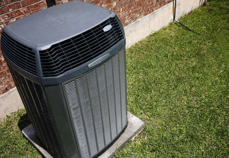 Photo for High efficiency modern AC-heater unit, energy save solution - Royalty Free Image