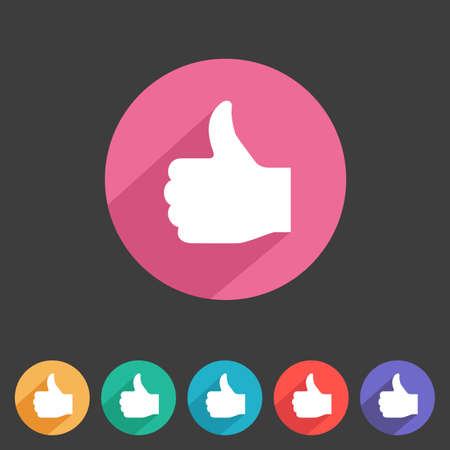 Flat style thumbs up icon for your game design