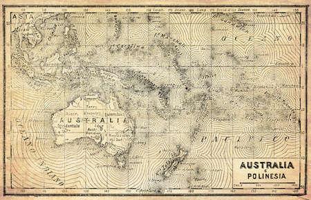 Foto für Ancient map of Australia, Polynesia and New Zealand with Italian names and descriptions - Lizenzfreies Bild