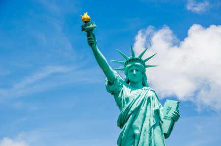 PATTAYA, THAILAND - June 3 2017 : Statue of Liberty, landmark of New york, America(USA) at Mini Siam miniature park attraction.
