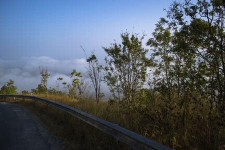The Way Talamok-Phutok Road to Sea fog Loei Thailand