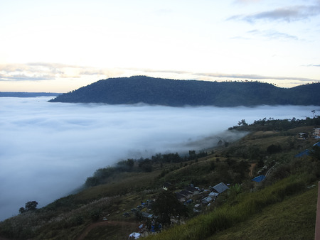 The sea fog at Khao Chamao District of Phetchabun province