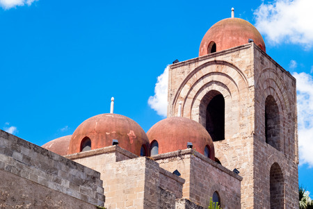 St  John of the Hermits domes, Palermo  church showing elements of Byzantine, Arabic and Norman architecture