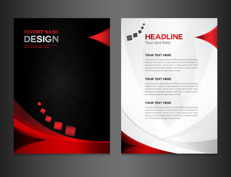 Illustration pour red Annual report Vector illustration,cover design, brochure design, template design,graphic design,vector illustration,report cover, Abstract background,polygon background, cover template - image libre de droit