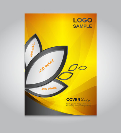 Illustration for gold Cover design template, cover design, printing design, vector illustration, silver background , report cover,report template - Royalty Free Image