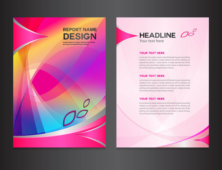 Illustration for pink Annual report Vector illustration,cover design, brochure design, template design,graphic design,vector illustration,report cover, Abstract background,polygon background - Royalty Free Image
