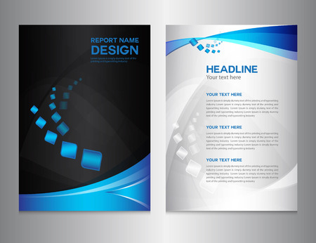 Illustration for blue Annual report Vector illustration,cover design, brochure design, template design,graphic design,vector illustration,report cover, Abstract background,polygon background - Royalty Free Image