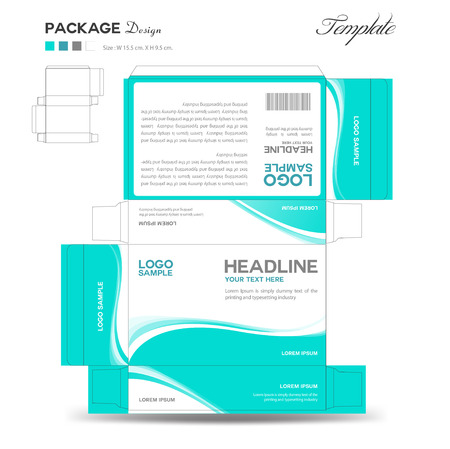 Illustration for Supplements and Cosmetic box design,Package design,template,box outline - Royalty Free Image
