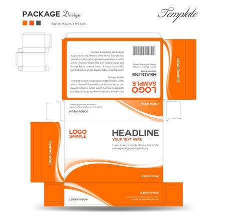 Vektor für Supplements and Cosmetic box design,Package design,template,box outline,flyer design,vector illustration - Lizenzfreies Bild