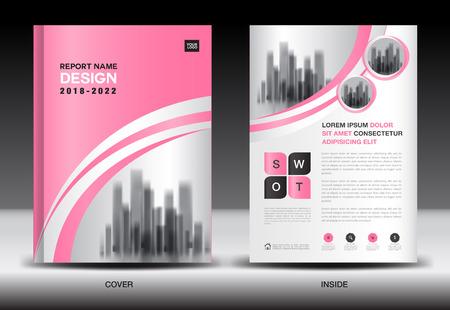 Illustration pour Annual report cover design, brochure flyer template, business advertisement, company profile, magazine ads, leaflet, book, catalog, infographics vector layout in A4 size - image libre de droit