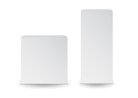 Illustration pour White boxes, Package, 3d box, product design,Vector illustration. - image libre de droit