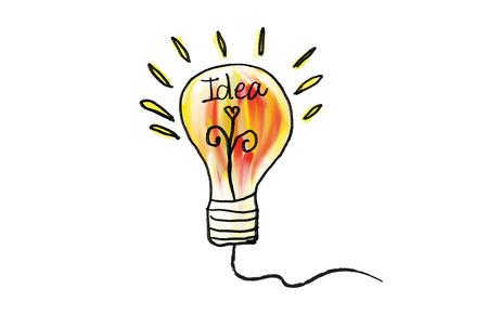 Illustration pour Vector light bulb icon vector illustration. Concept or creative thinking, doodle hand drawn sign, cartoon - image libre de droit