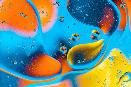 Photo pour Space or planets universe cosmic abstract background. Abstract molecule atom sctructure. Water bubbles. Macro shot of air or molecule. Abstract space background. Biology, phycics or chymistry abstract background - image libre de droit