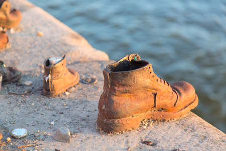 Photo for Shoes on Danube.  Memorial in Budapest Hungary. - Royalty Free Image