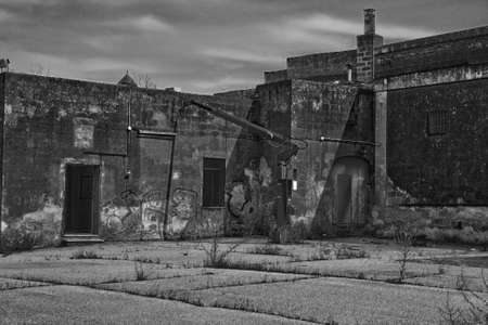 old factory in a state of neglect