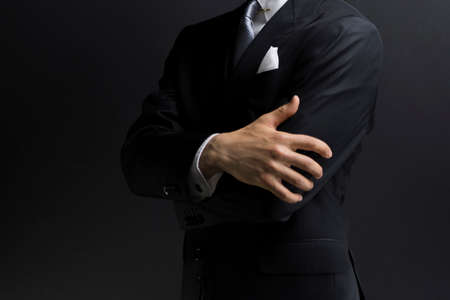 Photo for Businessman in a suit taken in the studio - Royalty Free Image