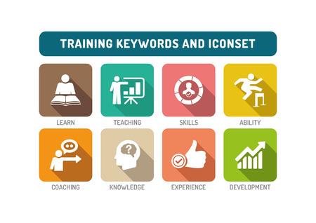 Illustration pour Training Flat Icon Set - image libre de droit