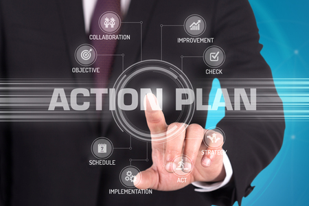 Photo for ACTION PLAN with Touch Screen Technology - Royalty Free Image