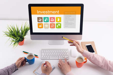 Investment screen on the workplace