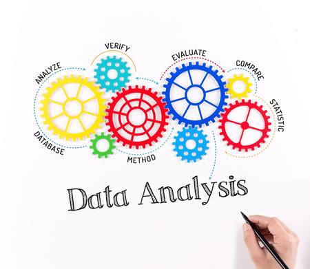 Photo pour Business Gears and Data Analysis Mechanism - image libre de droit