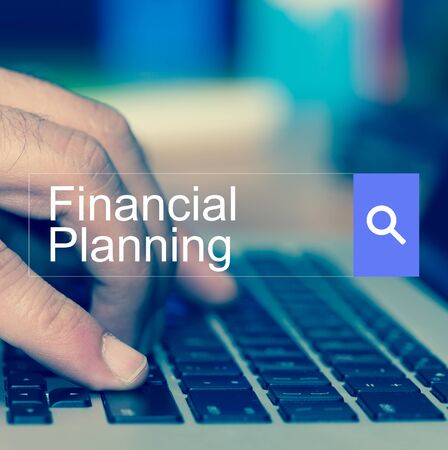 SEARCH WEBSITE INTERNET SEARCHING Financial Planning CONCEPT